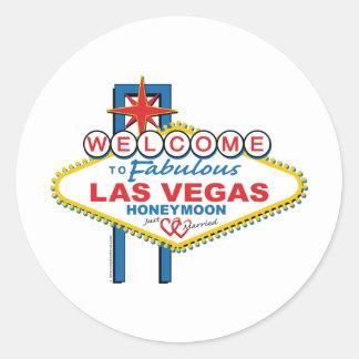 Lua de mel de Las Vegas Adesivo