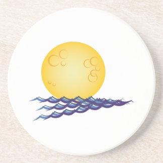 Lua na água porta copos de arenito