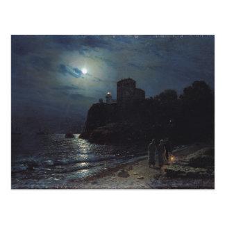 Luar na borda de um lago, 1870 cartão postal