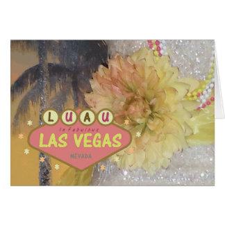 LUAU no cartão fabuloso de Las Vegas