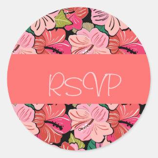 Luau que Wedding a etiqueta do convite de RSVP Adesivo