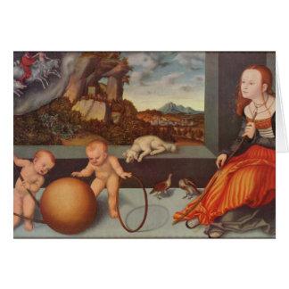 Lucas Cranach a melancolia mais velha Cartão