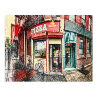 Lugar da pizza da Nova Iorque pelo Mac de Shawna Cartão Postal