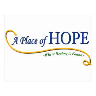 Lugar do logotipo da esperança cartão postal