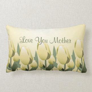Lumbar do amarelo da mamã do amor das tulipas do almofada lombar