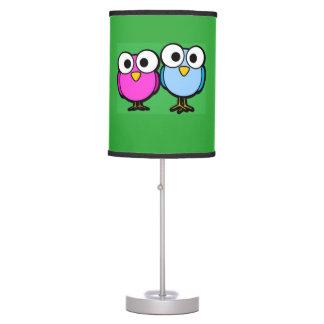Luminária Candeeiro de mesa macio dos olhos do papagaio