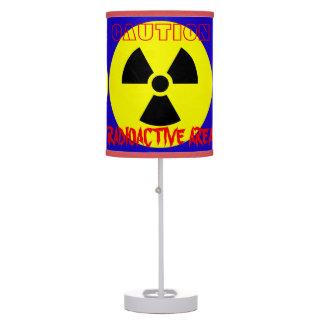 Luminária Candeeiro de mesa radioativo do azul da área do