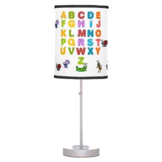 Luminária De Mesa Alfabeto e candeeiro de mesa dos animais do jardim