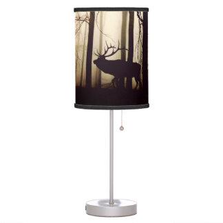 Luminária De Mesa Animais da floresta em uma névoa