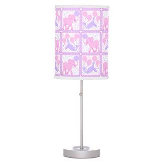 Luminária De Mesa Animal cor-de-rosa do elefante do berçário do bebé