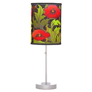 Luminária De Mesa Candeeiro de mesa vermelho de Nouveau da arte da