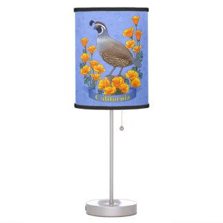 Luminária De Mesa Codorniz do pássaro de estado de Califórnia &
