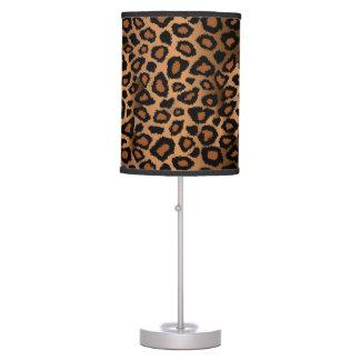 Luminária De Mesa Impressão animal de Brown e do leopardo preto