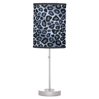 Luminária De Mesa Impressão animal do leopardo azul e preto