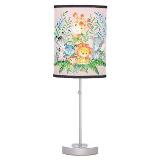 Luminária De Mesa Lâmpada do berçário do bebé dos animais da selva