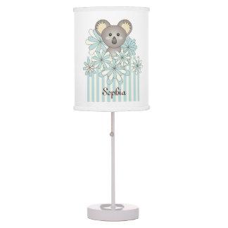 Luminária De Mesa Nome animal bonito do quarto dos miúdos do