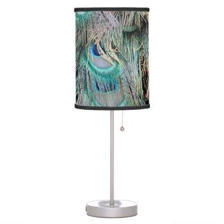 Luminária De Mesa O pavão bonito empluma-se os olhos azuis grandes
