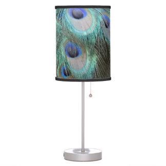 Luminária De Mesa o pavão brilhante marcado empluma-se os olhos