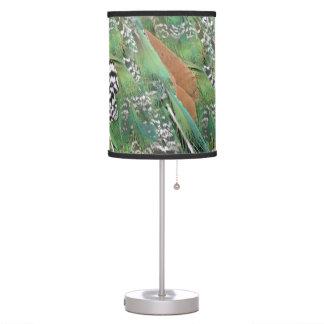 Luminária De Mesa O Peafowl empluma-se cores misturadas