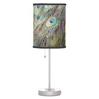 Luminária De Mesa Olhos bonitos da pena do pavão com crescimento
