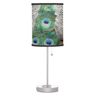 Luminária De Mesa Para trás de cores do ósmio um OM do pavão