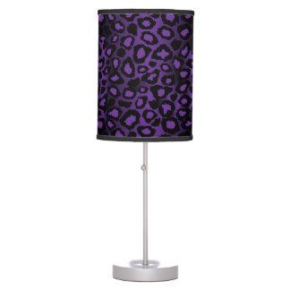 Luminária De Mesa Profundamente - impressão animal do leopardo roxo