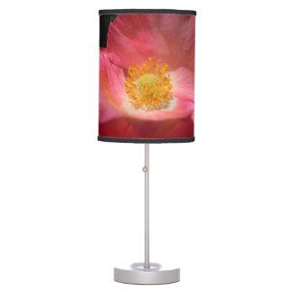 Luminária De Mesa Rosa empoeirado papoila colorida