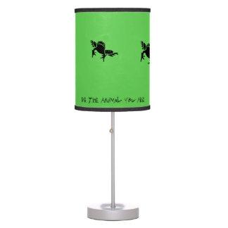 """Luminária De Mesa """"Seja o animal que você é"""" lâmpada de salto do"""