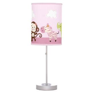 Luminária De Mesa Selva Jill/lâmpada do berçário do bebê animais da