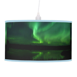Luminária De Teto A natureza das árvores da aurora boreal ajardina