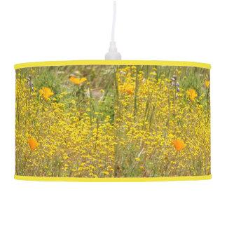 Luminária De Teto A papoila de Califórnia floresce o prado floral