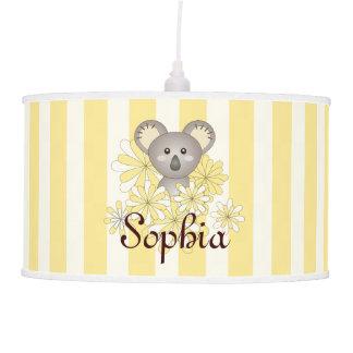 Luminária De Teto Amarelo animal do nome da sala dos miúdos do
