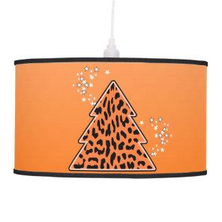 Luminária De Teto Árvore de Natal alaranjada da chita do leopardo