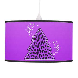 Luminária De Teto Árvore de Natal roxa da chita do leopardo