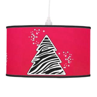 Luminária De Teto Árvore de Natal vermelha da zebra
