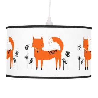 """Luminária De Teto """"Fox do trabalho de arte original"""""""