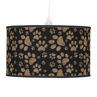 Luminária De Teto Impressões da pata do ponto do leopardo