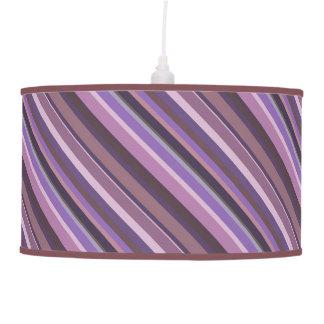 Luminária De Teto Listras diagonais malva