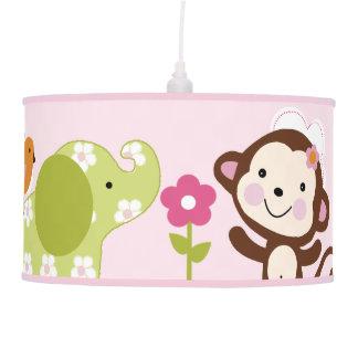 Luminária De Teto Selva Jill/lâmpada do berçário do bebê animais da