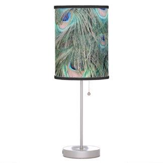 Luminária Peafowl exótico penas Ruffled