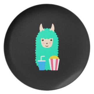 Lustre do filme de Emoji do lama Pratos De Festas