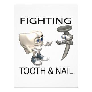 Luta com unhas e dentes modelo de panfletos