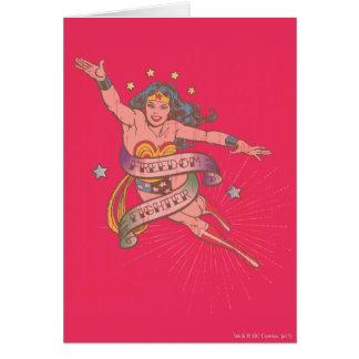 Lutador da liberdade da mulher maravilha cartão comemorativo