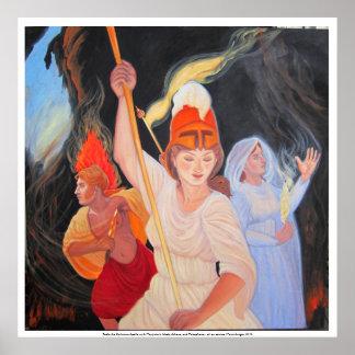 Lute a escuridão: Apollo, Athena, Persephone Poster