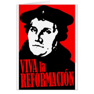 LUTHER de Reformacion do la de Viva Cartão Comemorativo
