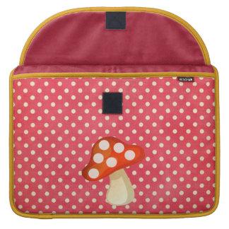 Luva da aleta do rickshaw do cogumelo bolsas MacBook pro
