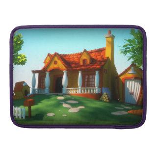 Luva da casa dos desenhos animados capa para MacBook