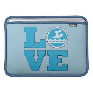 Luva de ar de MacBook do amor da natação para Bolsas De MacBook