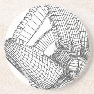 luva de basebol porta copos de arenito