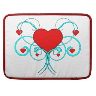 Luva de Macbook dos corações do vetor Bolsas MacBook Pro